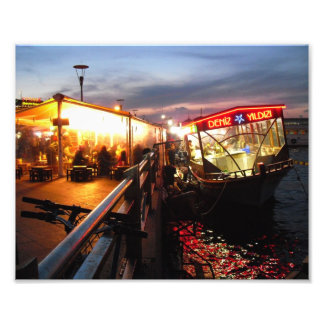 Noche en el embarcadero fotografía