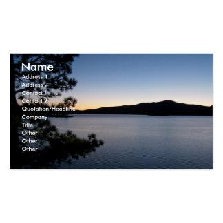 Noche en el lago tarjetas de visita