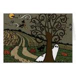 Noche en el país - tarjeta de Halloween de felicit