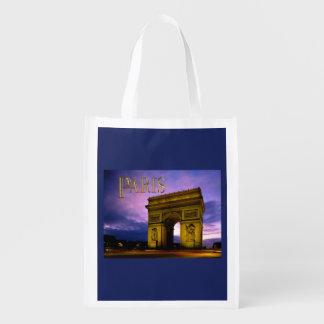 Noche en el TEXTO París de Arco del Triunfo Bolsas Para La Compra