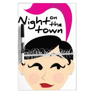 Noche en la ciudad tablero blanco