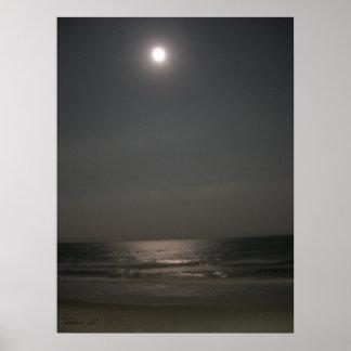 Noche en la playa póster