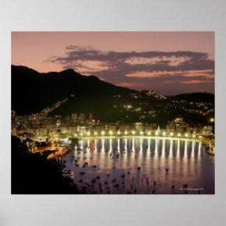 Noche en Río de Janeiro, el Brasil Impresiones