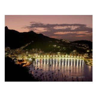 Noche en Río de Janeiro, el Brasil Tarjeta Postal