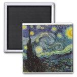 noche estrellada, 1889, Vincent van Gogh Imán Cuadrado