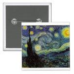 noche estrellada, 1889, Vincent van Gogh Pins