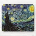 noche estrellada, 1889, Vincent van Gogh Alfombrillas De Ratón