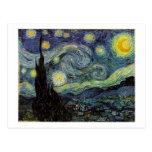 noche estrellada, 1889, Vincent van Gogh Tarjetas Postales