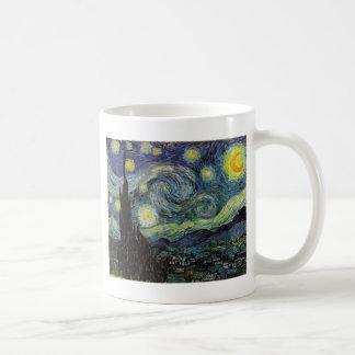 noche estrellada, 1889, Vincent van Gogh Taza Básica Blanca