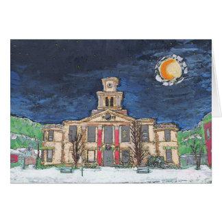 Noche estrellada 2 de ayuntamiento de Burnsville Tarjeta De Felicitación