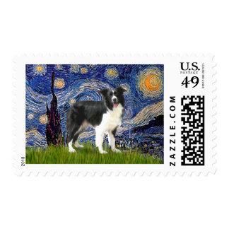 Noche estrellada - border collie (z) sellos