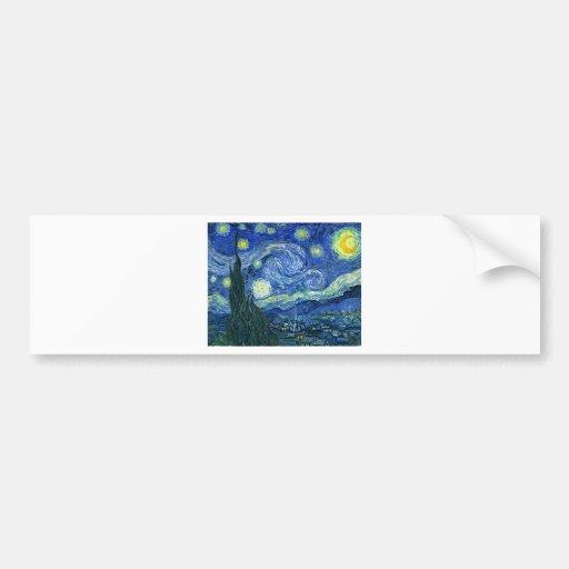 Noche estrellada pegatina de parachoque