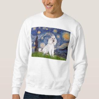 Noche estrellada - caniche blanco estándar (c) suéter