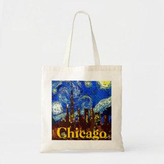 Noche estrellada Chicago Bolsa Tela Barata