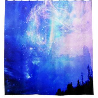 Noche estrellada cortina de baño