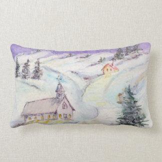 Noche estrellada cubierta en acuarela del navidad almohadas