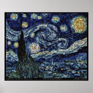 Noche estrellada de Hubble 29 3 x24 Poster