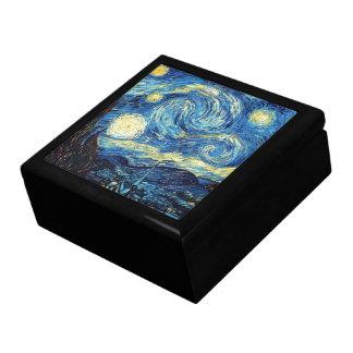 Noche estrellada de la pintura famosa de Van Gogh Joyero Cuadrado Grande