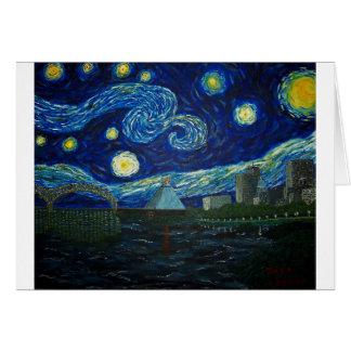 """Noche estrellada de Memphis"" por Jack Lepper Tarjeta De Felicitación"