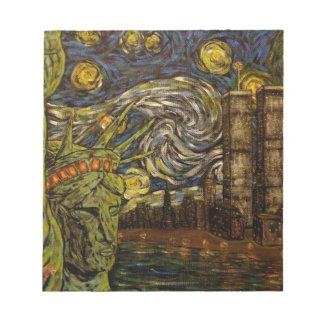 Noche estrellada de NYC: Torres gemelas (las Libreta Para Notas