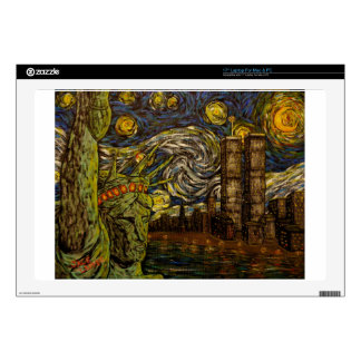 Noche estrellada de NYC: Torres gemelas (las Portátil 43,2cm Skins
