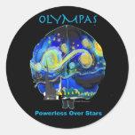 Noche estrellada de Olympas Pegatina Redonda
