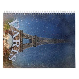 Noche estrellada de París Calendario De Pared