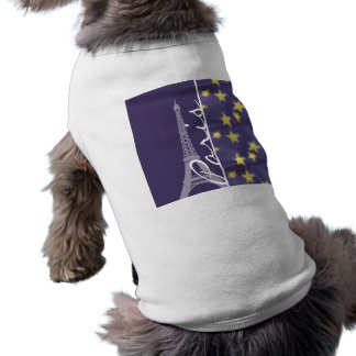 Noche estrellada de París; Torre Eiffel Camisetas De Mascota