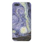 Noche estrellada de Swirly iPhone 5 Coberturas