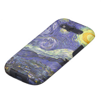 Noche estrellada de Van Gogh, arte del paisaje del Galaxy S3 Cárcasas