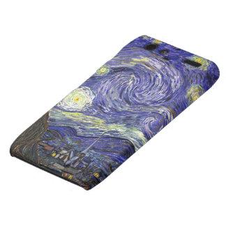 Noche estrellada de Van Gogh, arte del paisaje del Droid RAZR Funda