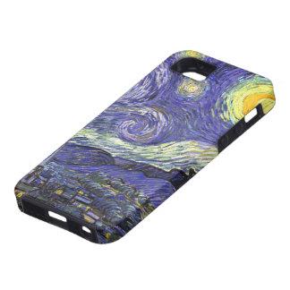 Noche estrellada de Van Gogh, arte del paisaje del iPhone 5 Case-Mate Protectores