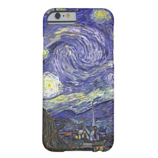 Noche estrellada de Van Gogh, arte del paisaje del Funda De iPhone 6 Barely There