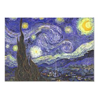 Noche estrellada de Van Gogh, arte del paisaje del Invitación 12,7 X 17,8 Cm