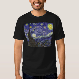 Noche estrellada de Van Gogh, arte del paisaje del Playera