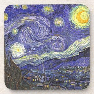 Noche estrellada de Van Gogh, arte del paisaje del Posavasos