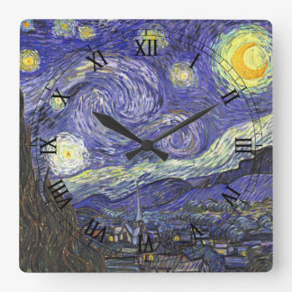 Noche estrellada de Van Gogh, arte del paisaje del Relojes