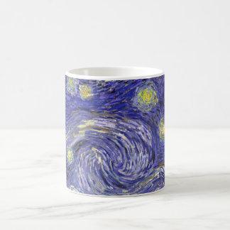 Noche estrellada de Van Gogh, arte del paisaje del Taza Básica Blanca