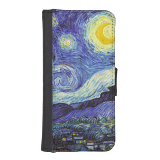 Noche estrellada de Van Gogh Billetera Para Teléfono