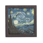 Noche estrellada de Van Gogh Caja De Regalo De Calidad