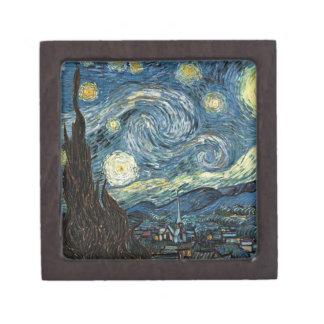 Noche estrellada de Van Gogh Cajas De Joyas De Calidad