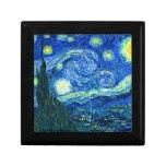 noche estrellada de Van Gogh Cajas De Recuerdo