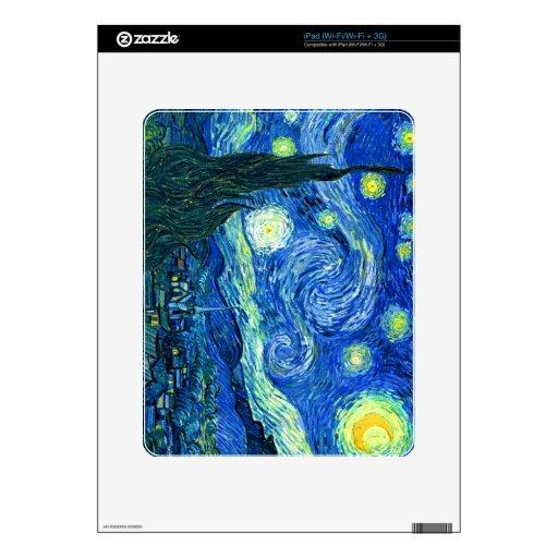 noche estrellada de Van Gogh Calcomanía Para iPad
