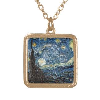 Noche estrellada de Van Gogh Colgante Cuadrado