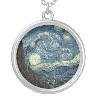 Noche estrellada de Van Gogh Colgante Redondo