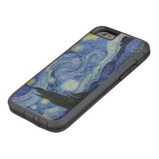 Noche estrellada de Van Gogh del vintage Funda De iPhone 6 Tough Xtreme