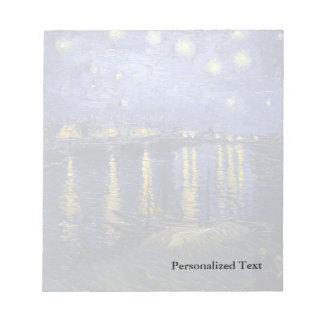 Noche estrellada de Van Gogh el | sobre el Rhone Libreta Para Notas