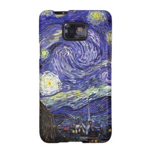 Noche estrellada de Van Gogh Samsung Galaxy SII Fundas