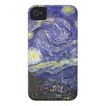 Noche estrellada de Van Gogh iPhone 4 Case-Mate Cárcasa