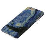 Noche estrellada de Van Gogh Funda De iPhone 6 Plus Barely There